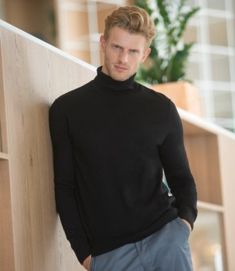 Henbury Roll Neck Sweater (garment & printing / H727)