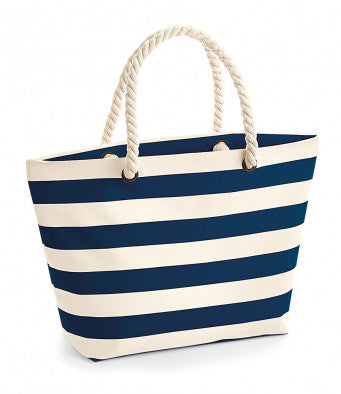 Westford Mill Nautical Beach Bag (bag and printing / W680)