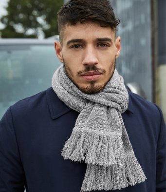 Beechfield Classic Knitted Scarf (garment & printing / BB470)