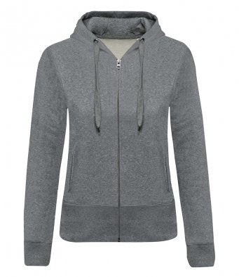 BELLA - Kariban Ladies Organic Zip Hoodie (Garment & printing / KB485)