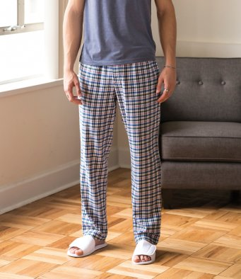 Men Tartan Lounge Pants (garment & print / SF83SF )