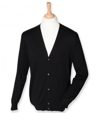 Henbury Lightweight Cotton Acrylic V Neck Cardigan (garment & printing / H722)