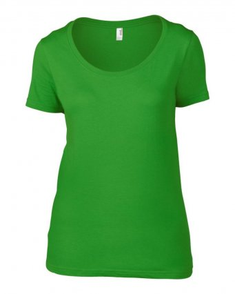 Anvil Ladies Featherweight Scoop Neck T-Shirt (garment & printing / AV121)