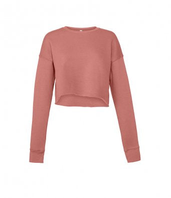 GRETA - Bella Ladies Cropped Sweatshirt (garment & printing / BL7503)