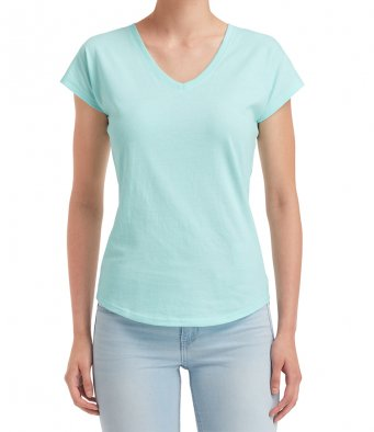 Anvil Ladies Tri-Blend V Neck T-Shirt (garment & printing / AV173F)