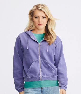 Comfort Colors Ladies Zip Hooded Sweatshirt (garment and print / CM152F)