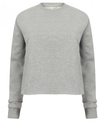 Ladies Cropped Slounge Sweatshirt (garment & printing / SK515SF)