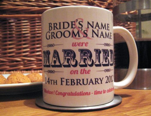 Married / Engaged His & Hers Mugs (Personalised)