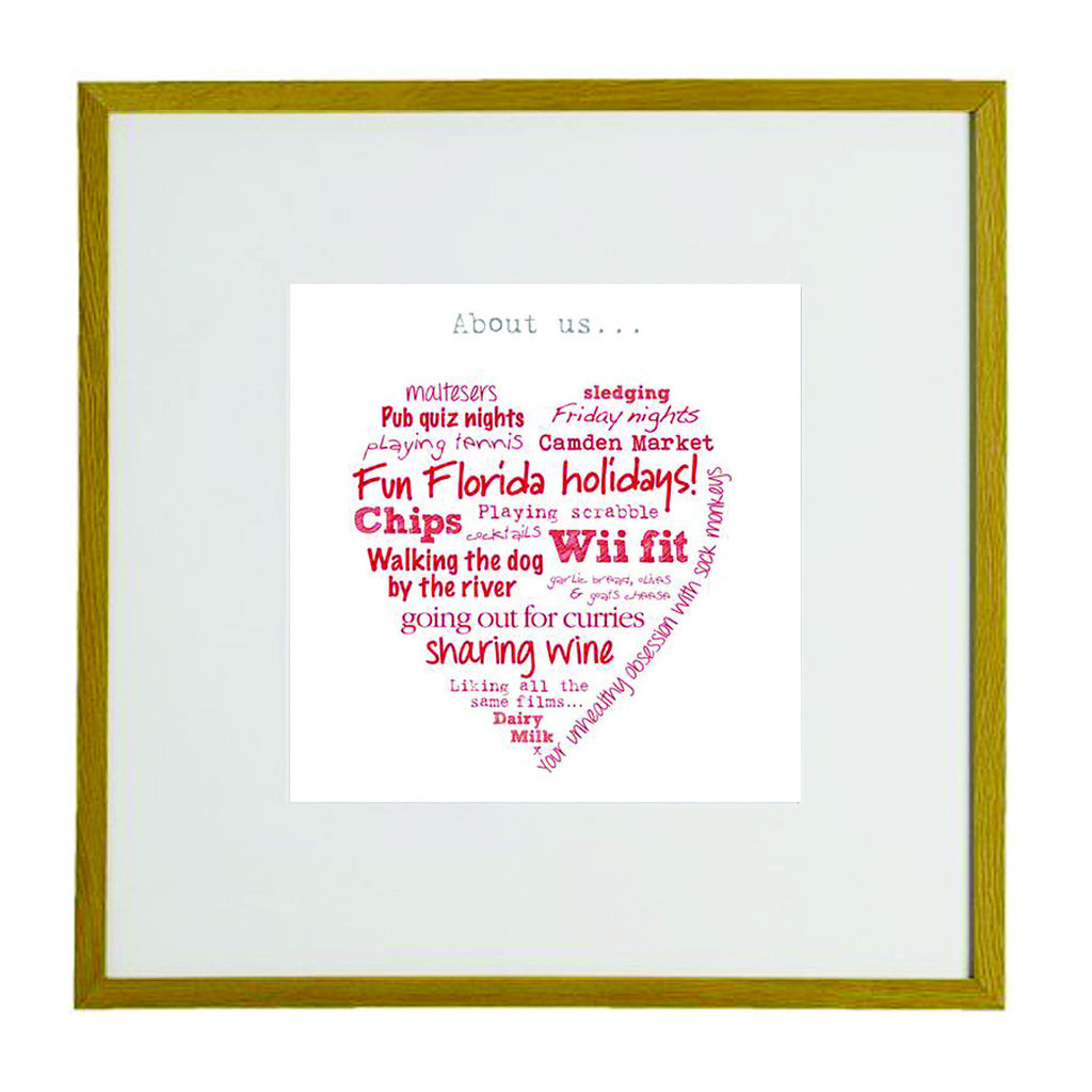 Personalised Heart Framed Print