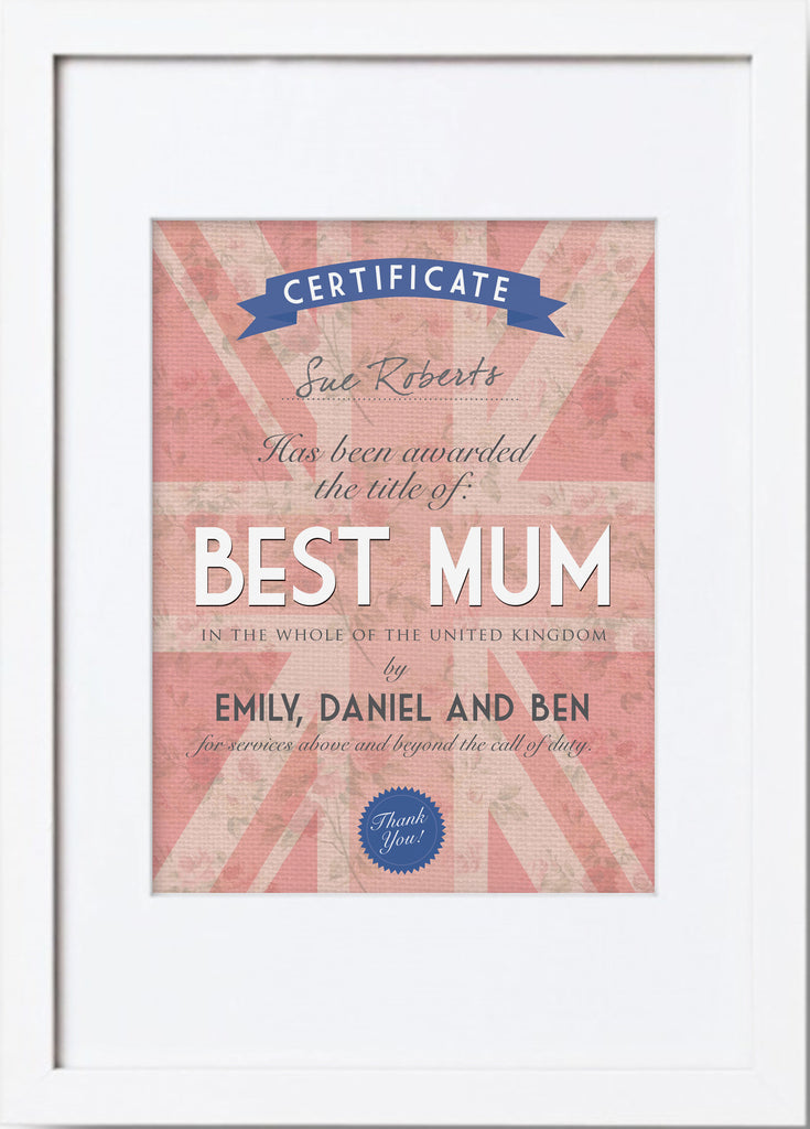 Best Mum or Dad Framed Print