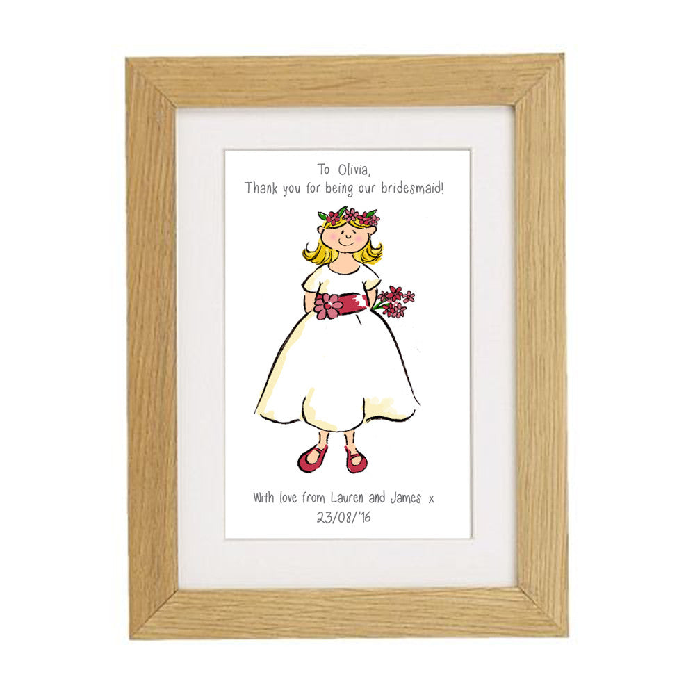 Little Bridesmaid Framed Print