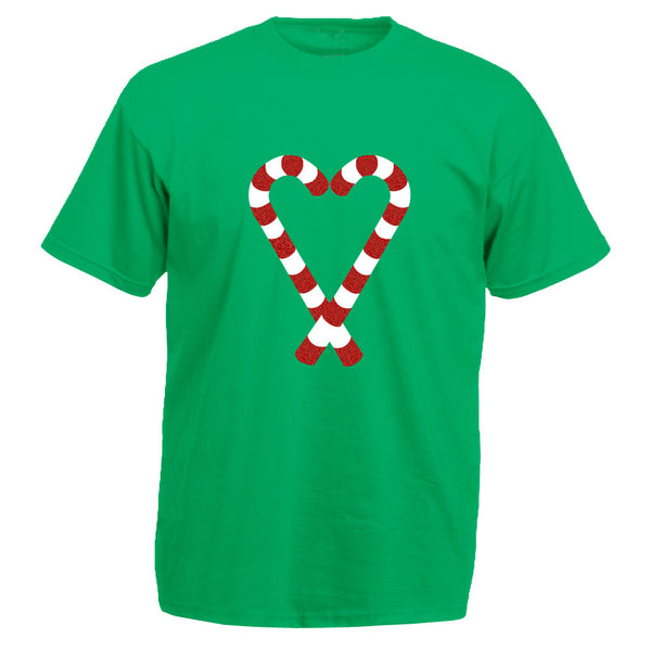 Candy Cane Heart T-shirt