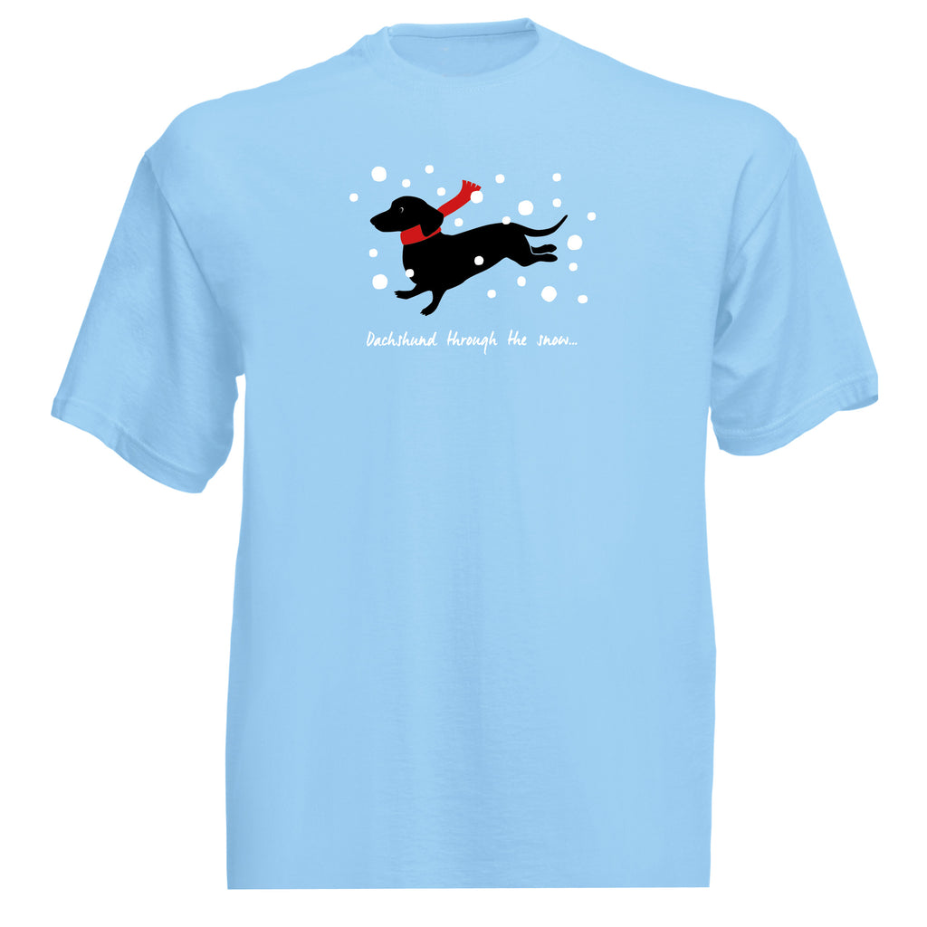 'Dachshund through the snow' T-shirt