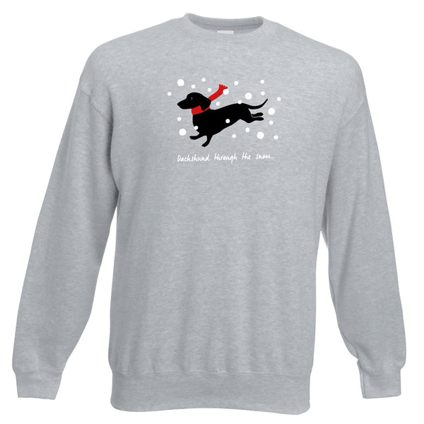 'Dachshund through the snow' Sweatshirt