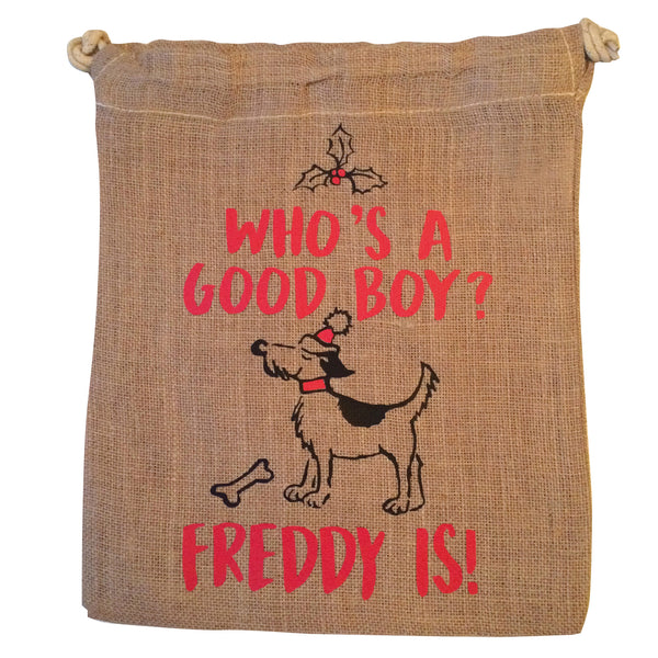 Personalised Doggy Santa Sack