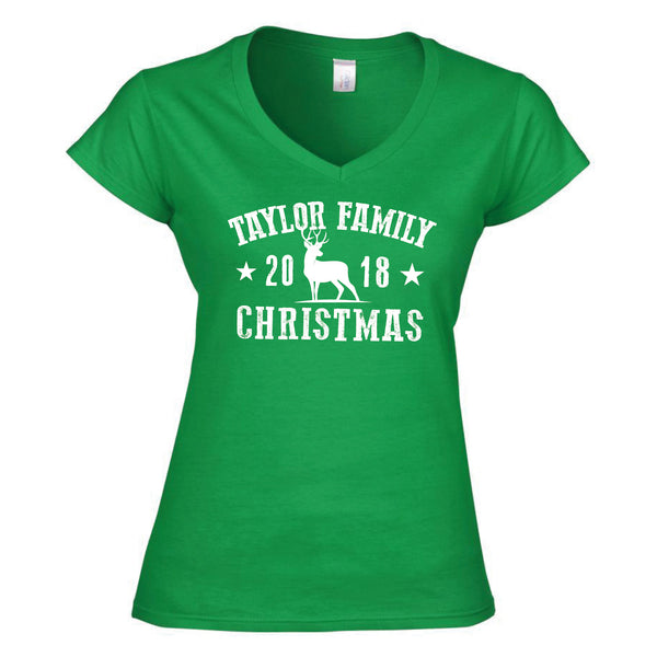 Family Souvenir Christmas Ladyfit T-Shirt 2019 (Personalised)