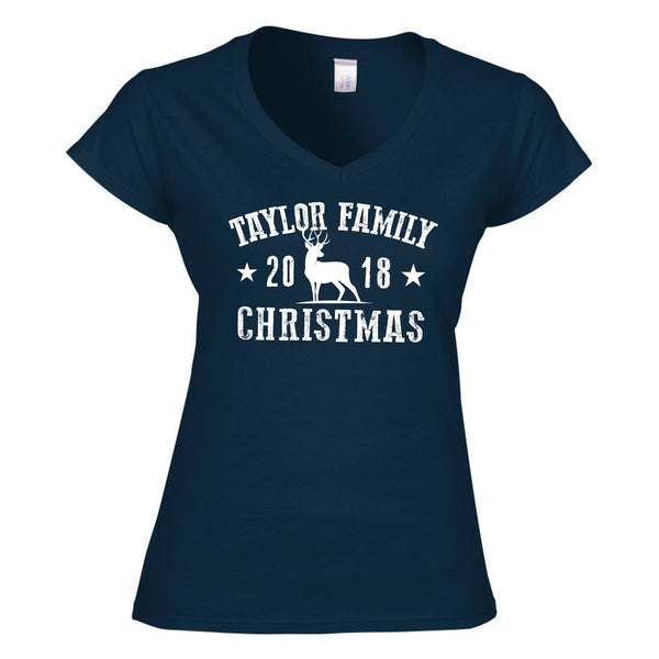 Family Souvenir Christmas Ladyfit T-Shirt (Personalised)