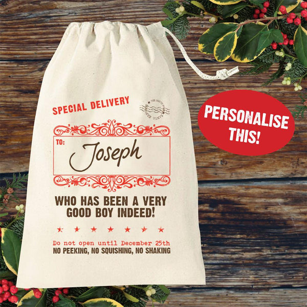 Personalised Santa Sack (cotton)