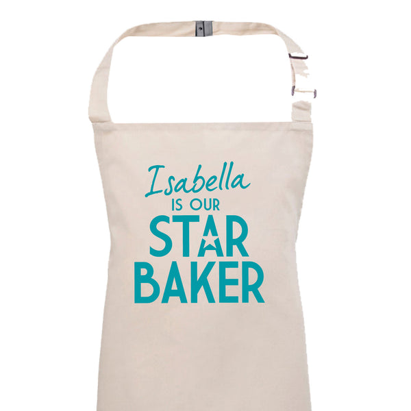 Personalised Child's Star Baker Apron