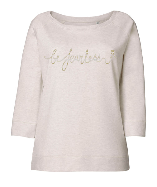 Cream Heather Scoop Neck Sweatshirt