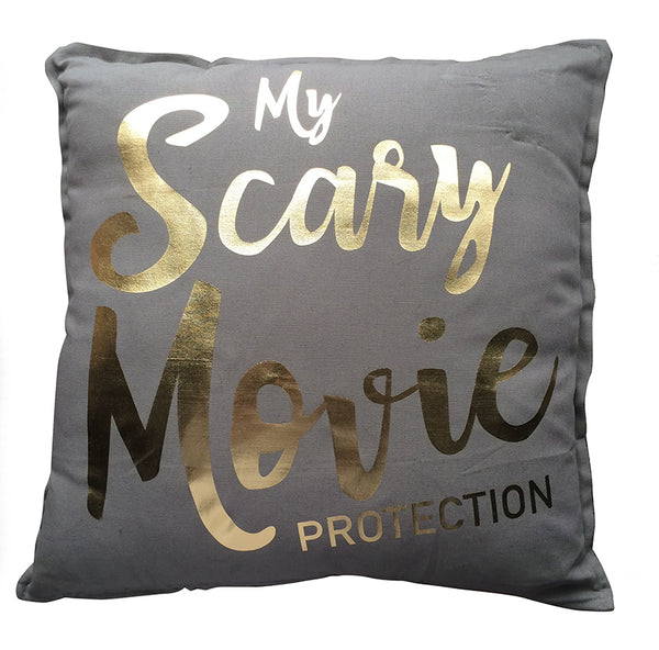 'Scary Movie Protection' Cushion Cover