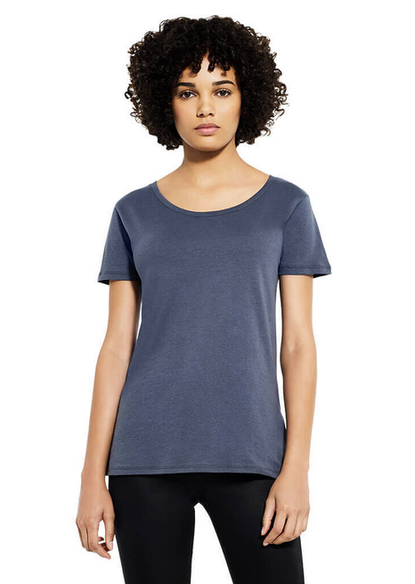 Earth Positive Women's Open Neck T-shirt (Print only / EP09)