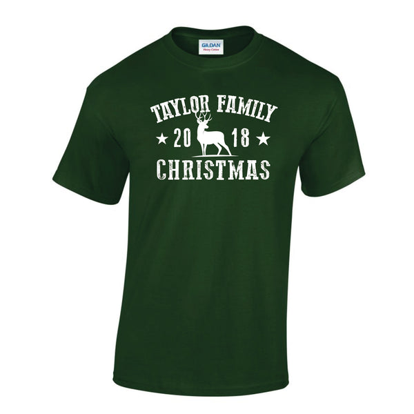 Family Souvenir Christmas T-Shirt 2019 (Personalised)