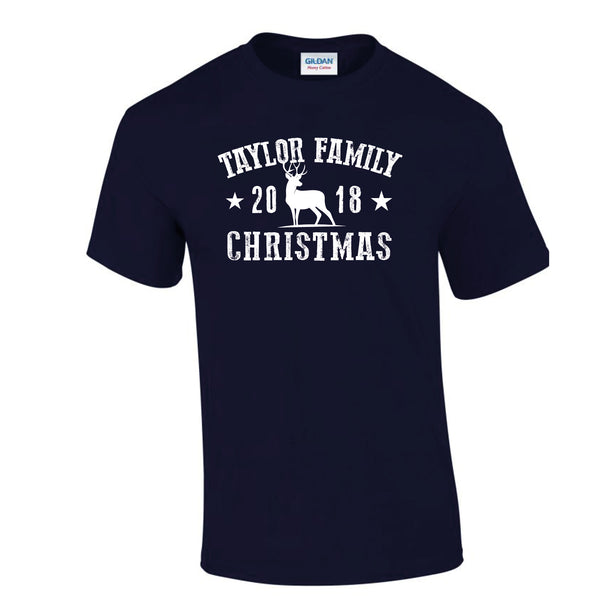 Family Souvenir Christmas T-Shirt (Personalised)