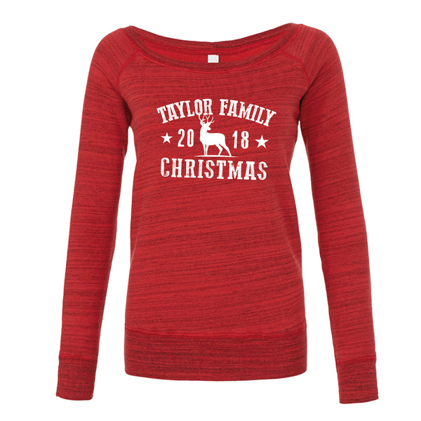 Family Souvenir Christmas Sweatshirt (Personalised Ladyfit)