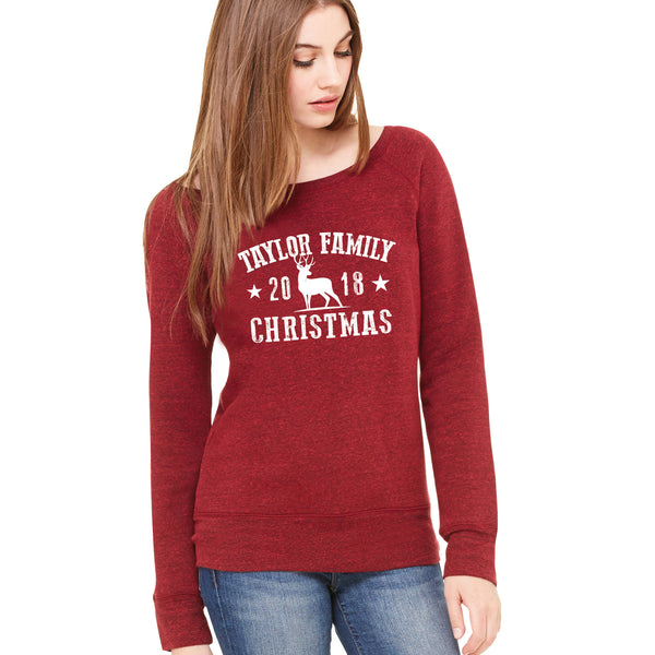 Family Souvenir Christmas Sweatshirt 2019 (Personalised Ladyfit)