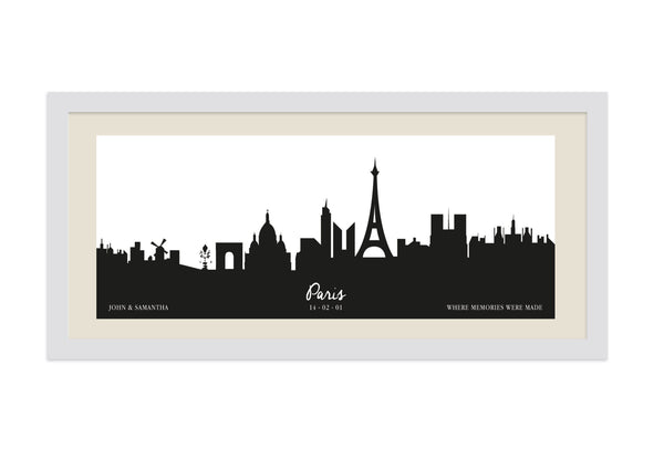 Personalised Cityscape Framed Print