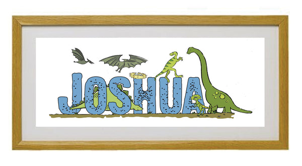 Personalised Dinosaur Framed Print