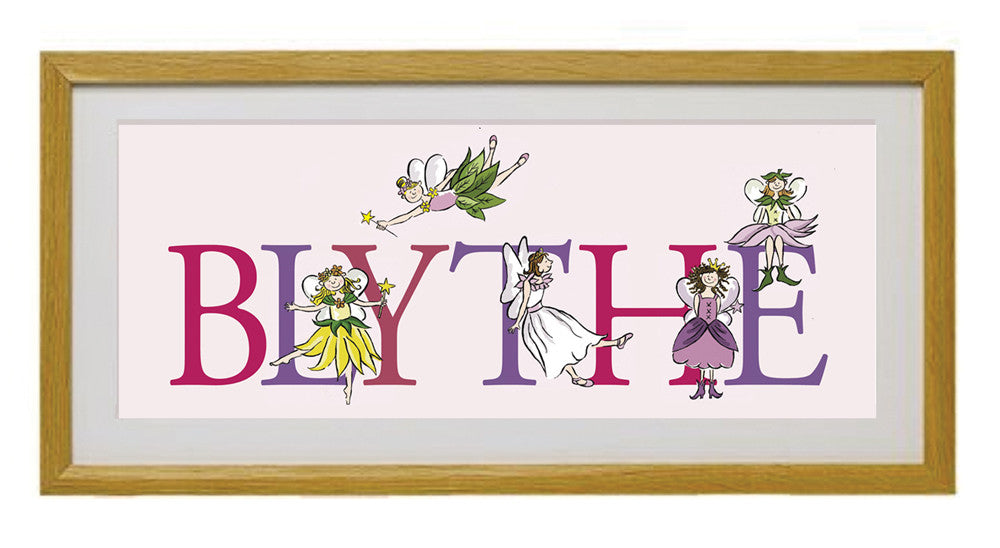 Personalised Fairy Name Framed Print