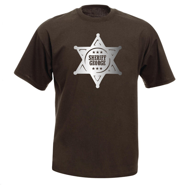 Personalised Sheriff T-shirt