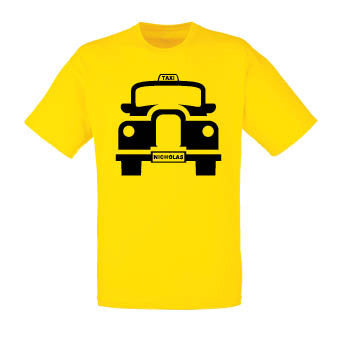 London Taxi T-shirt (personalised)