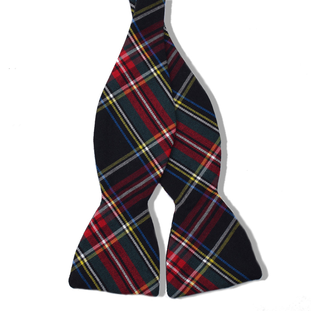 Winston Plaid Cotton Untied Bow Tie