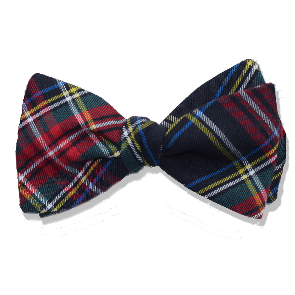 Winston Plaid Cotton Tied Bow Tie