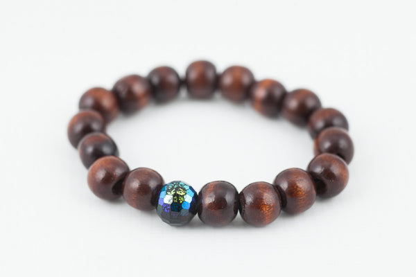 dark brown wooded bracelet - davidshurlan