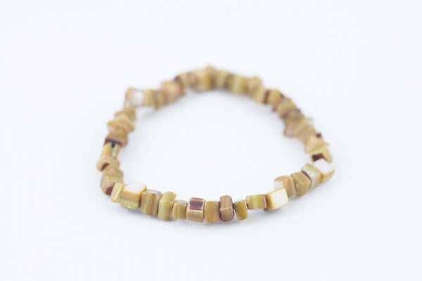 dyed coffee shell bracelet - davidshurlan