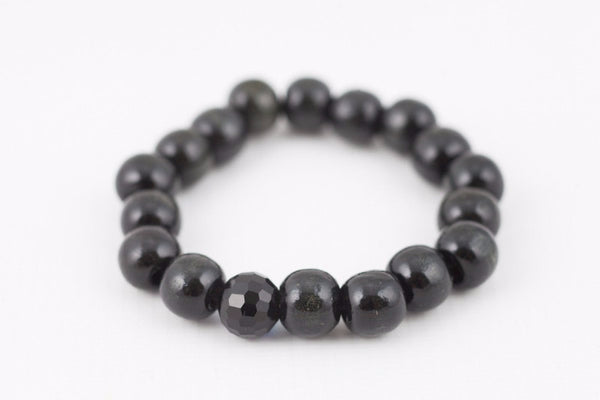 black wooded bracelet 12 mm - davidshurlan