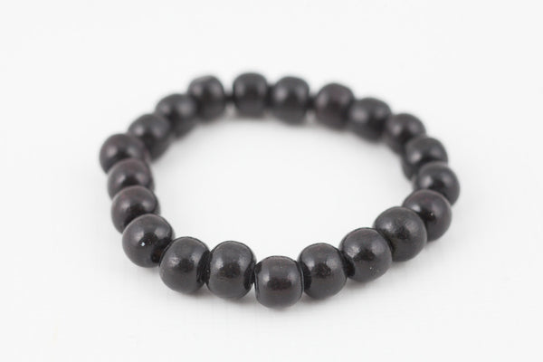 black wooded bracelet 10mm - davidshurlan