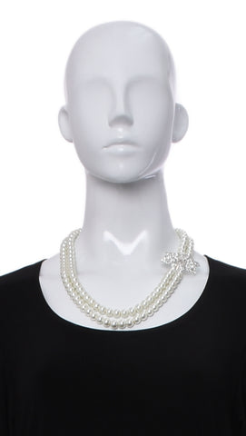 Collier de Perles de Fantaisie -405 | Necklace in faux pearl -405