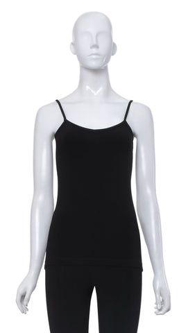 "Cami de Base Fine Bretelle ""Noir"" -C13B 