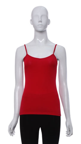"Cami ""Rouge"" de Base Fine Bretelle -C13B 