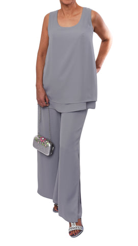 "Cami ""Gris Silver"" Doublé -CA525R 