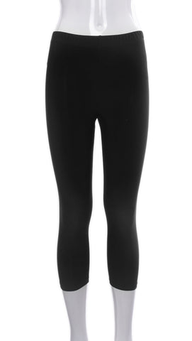 Legging Court Noir | Crop Black Leggings