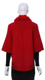 "Cape en Maille ""Rouge"" -TLG106S 