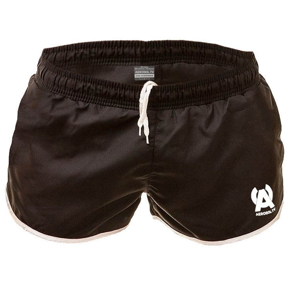 Basic black swim-gym short