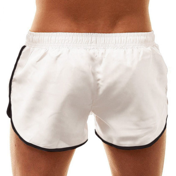Basic white swim-gym short