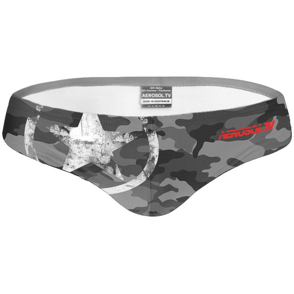 Camo speedo grey